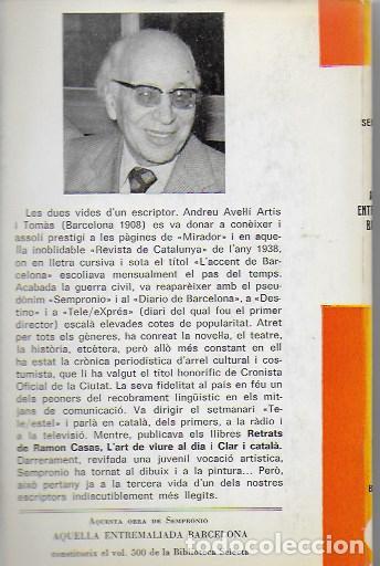 Libros antiguos: Aquella entremaliada Barcelona / Sempronio. BCN : Selecta, 1978. 18x12 cm. 203 p. il. - Foto 2 - 86442268