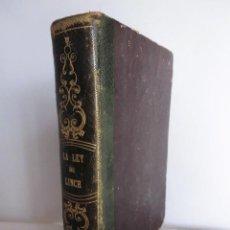 Libros antiguos: LA LEY DE LYNCH (1862) - LIBRO OBRA DE GUSTAVE AIMARD. Lote 86453052