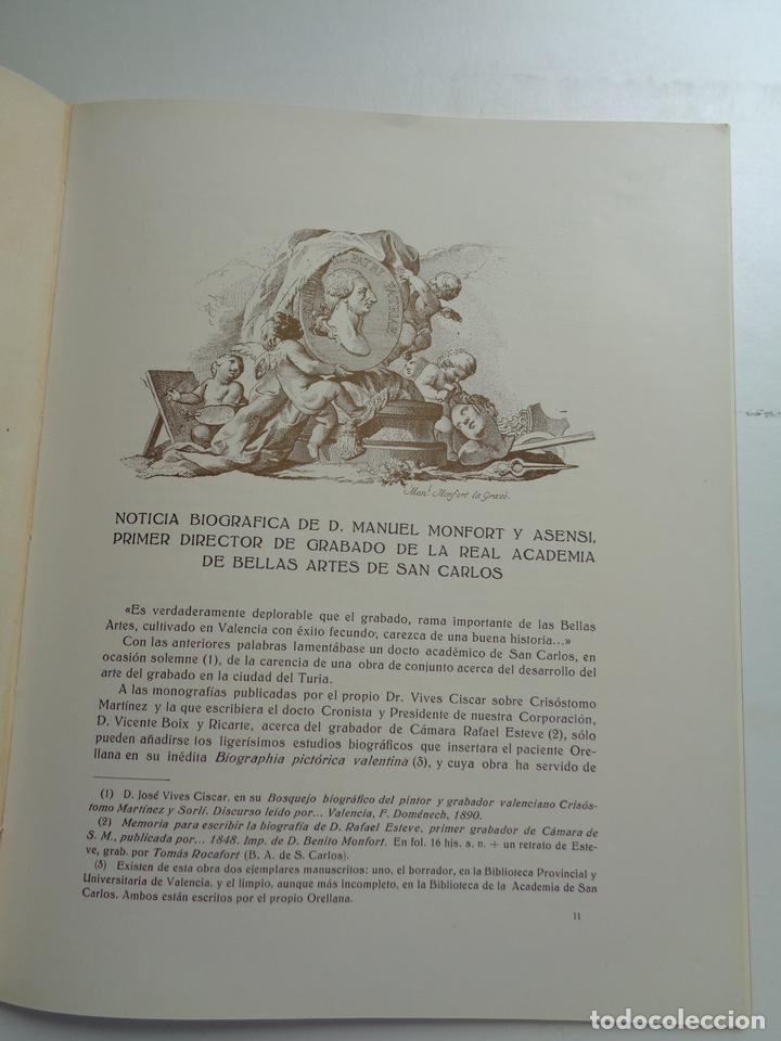 Libros antiguos: EL GRABADOR DON MANUEL MONFORT Y ASENSI.-674 - Foto 2 - 201555413