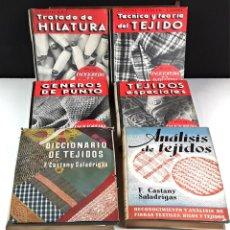 Libros antiguos: TÉCNICA Y TEORÍA DEL TEJIDO. 6 TOMOS. VARIOS AUTORES. EDITORIAL GUSTAVO GILI. 1936/1945.. Lote 86365824