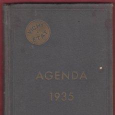 Libros antiguos: AGENDA VICHY AÑO 1935 IMP ELZERVIRIANA Y LIB CAMI S.A 233 PAGS 16 X 25 CM LE1892. Lote 86617768