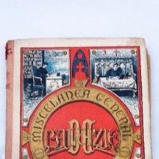 Libros antiguos: CURIOSO LIBRO MISCELANEA GENERAL DE DOCUMENTOS AÑO 1864. Lote 86745088