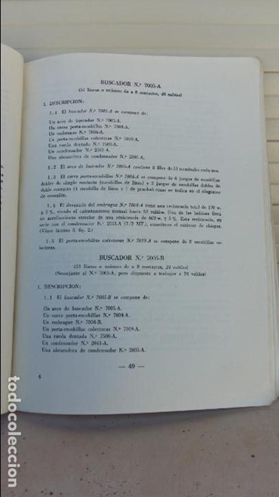 Libros antiguos: AJUSTE DE MAQUINAS. COMPAÑIA TELEFONICA NACIONAL. ESCUELA TECNICA DE TELEFONIA. 1960. RARO - Foto 2 - 86848952