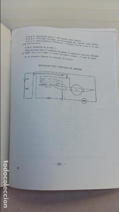 Libros antiguos: AJUSTE DE MAQUINAS. COMPAÑIA TELEFONICA NACIONAL. ESCUELA TECNICA DE TELEFONIA. 1960. RARO - Foto 4 - 86848952