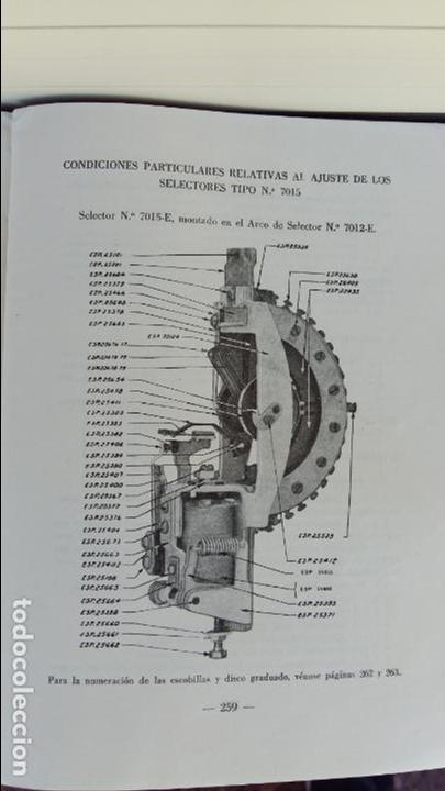 Libros antiguos: AJUSTE DE MAQUINAS. COMPAÑIA TELEFONICA NACIONAL. ESCUELA TECNICA DE TELEFONIA. 1960. RARO - Foto 5 - 86848952
