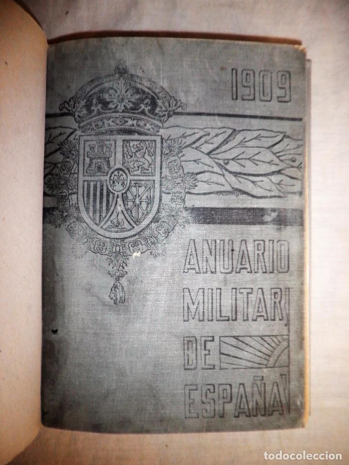 Libros antiguos: ANUARIO MILITAR DE ESPAÑA AÑO 1909 - GUERRA DE MARRUECOS. - Foto 3 - 86862392