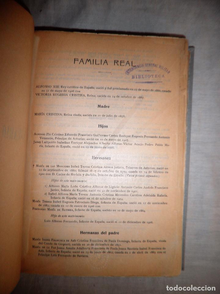 Libros antiguos: ANUARIO MILITAR DE ESPAÑA AÑO 1909 - GUERRA DE MARRUECOS. - Foto 5 - 86862392