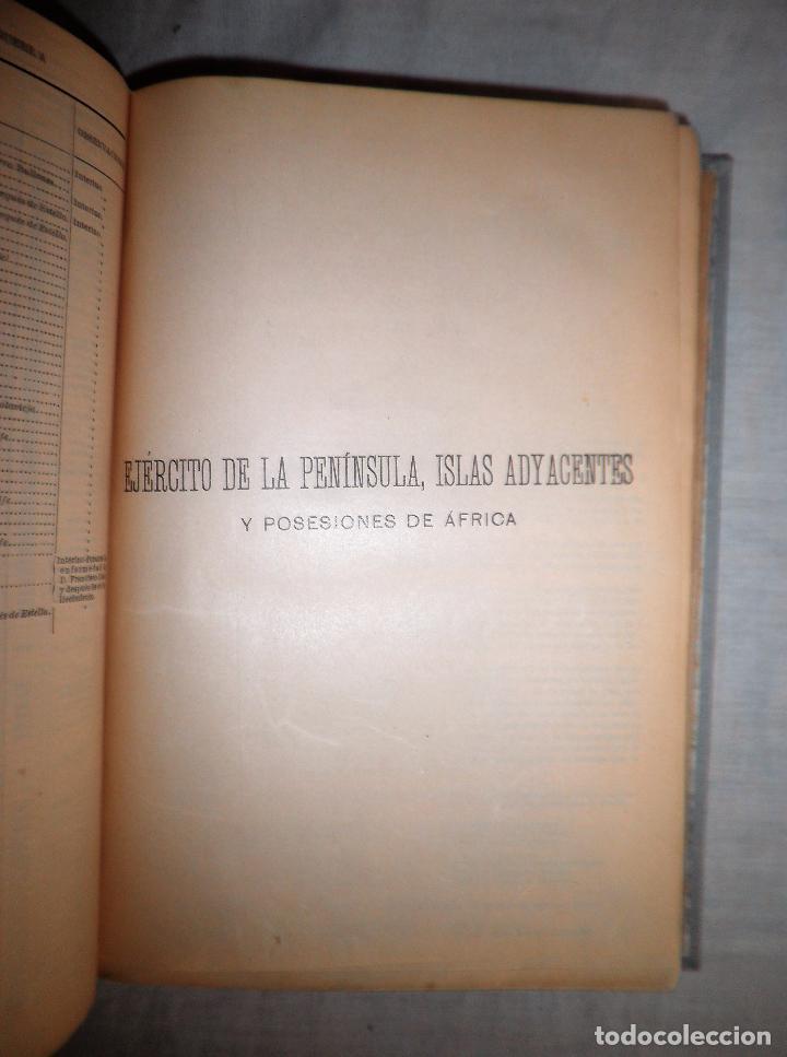Libros antiguos: ANUARIO MILITAR DE ESPAÑA AÑO 1909 - GUERRA DE MARRUECOS. - Foto 7 - 86862392