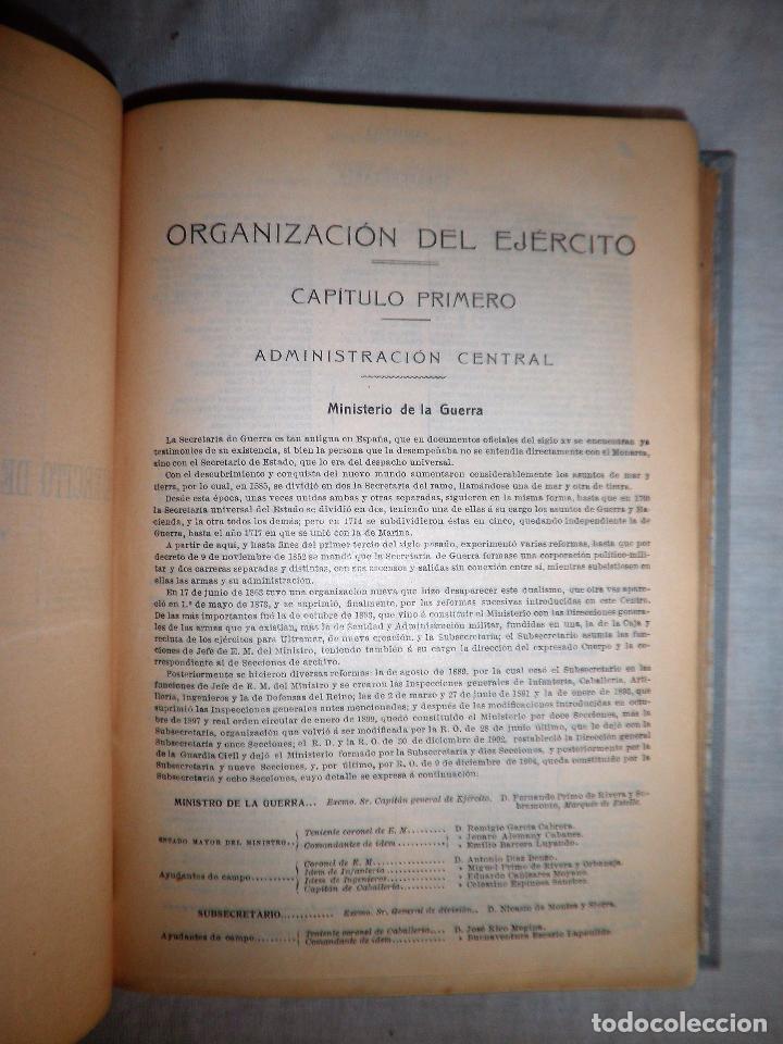 Libros antiguos: ANUARIO MILITAR DE ESPAÑA AÑO 1909 - GUERRA DE MARRUECOS. - Foto 8 - 86862392