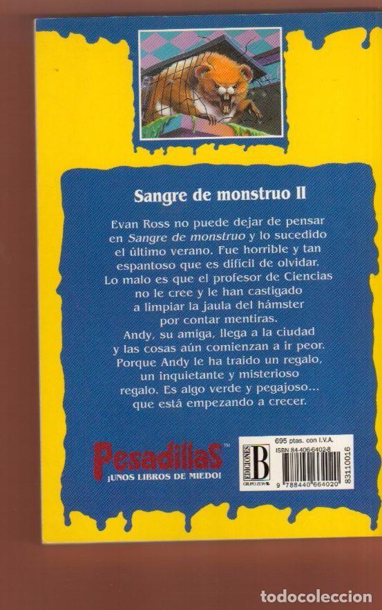 Libros antiguos: LIBRO TERROR EDICIONES B: PESADILLAS R. L. STINE - EL DE LAS FOTOS VER TODOS MIS OTROS LIBROS - Foto 2 - 87043588