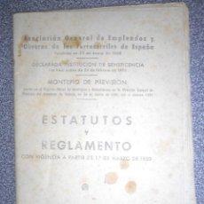 Libros antiguos: REGLAMENTOS DEL MONTEPÍO DE LOS EMPLEADOS Y OBREROS DE FERROCARRILES DE ESPAÑA. Lote 87078204