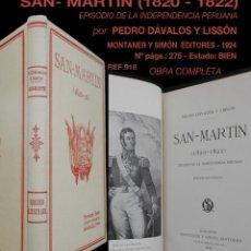 Libros antiguos: PCBROS - SAN MARTÍN - PEDRO DÁVALOS Y LISSÓN - MONTANER Y SIMÓN EDITORES - 1824 - 275 PÁGS.. Lote 143404833