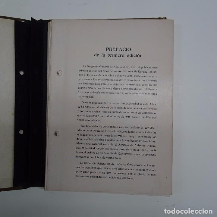 Libros antiguos: ATLAS DE LOS AERODROMOS DE ESPAÑA PUBLICADO POR LA DIRECCION GENERAL DE AERONAUTICA CIVIL. AVIACION - Foto 2 - 87158980