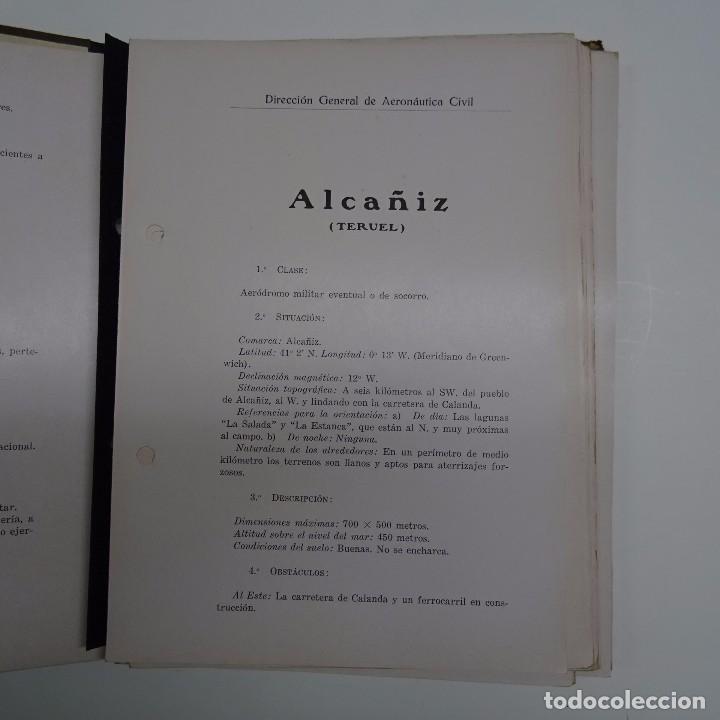 Libros antiguos: ATLAS DE LOS AERODROMOS DE ESPAÑA PUBLICADO POR LA DIRECCION GENERAL DE AERONAUTICA CIVIL. AVIACION - Foto 3 - 87158980