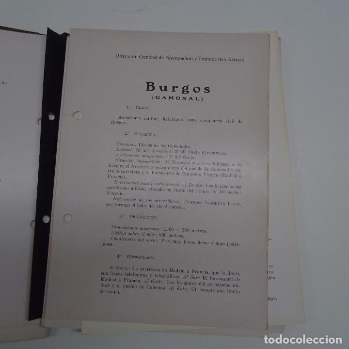 Libros antiguos: ATLAS DE LOS AERODROMOS DE ESPAÑA PUBLICADO POR LA DIRECCION GENERAL DE AERONAUTICA CIVIL. AVIACION - Foto 4 - 87158980