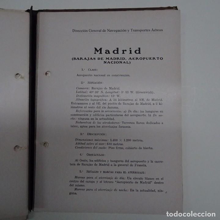 Libros antiguos: ATLAS DE LOS AERODROMOS DE ESPAÑA PUBLICADO POR LA DIRECCION GENERAL DE AERONAUTICA CIVIL. AVIACION - Foto 6 - 87158980