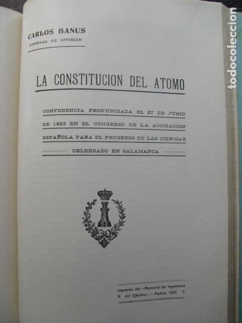 1924 LA CONSTITUCION DEL ATOMO GENERAL BANÚS (Libros Antiguos, Raros y Curiosos - Ciencias, Manuales y Oficios - Otros)