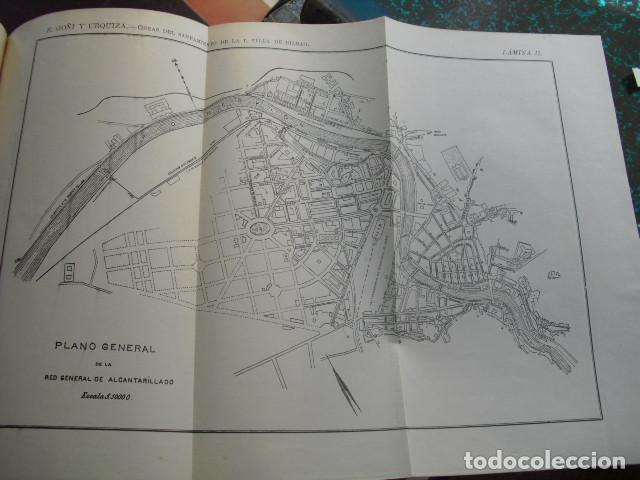 Libros antiguos: 1905 OBRAS DEL SANEAMIENTO DE LA ILUSTRE VILLA DE BILBAO EMILIO GOÑI - Foto 2 - 87206436