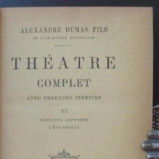 Libros antiguos: 1895 - ALEJANDRO DUMAS, HIJO -TEATRO-LITERAURA FRANCESA-ANTIGUO-PIEL. Lote 87347148