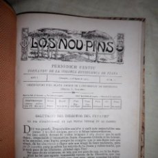 Libros antiguos: LOS NOU PINS·PERIODICH FESTIU DE TIANA - AÑO 1903 -TODO LO EDITADO.. Lote 87449856