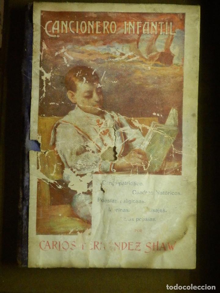 ANTIGUO LIBRO - CANCIONERO INFANTIL - FERNANDEZ SHAW - AÑO 1910 - (Libros Antiguos, Raros y Curiosos - Literatura Infantil y Juvenil - Otros)