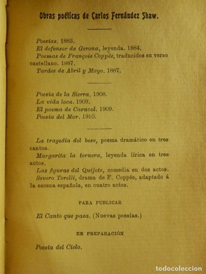 Libros antiguos: Antiguo libro - Cancionero Infantil - Fernandez Shaw - Año 1910 - - Foto 3 - 87476340