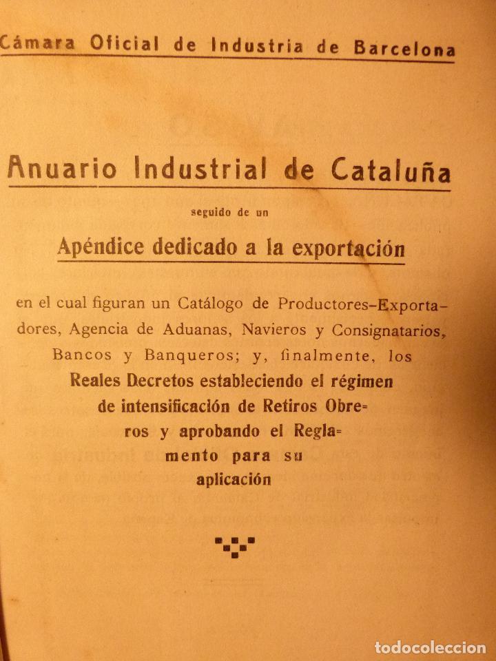 Libros antiguos: ANUARIO INDUSTRIAL DE CATALUNYA 1924 - Foto 3 - 87491792