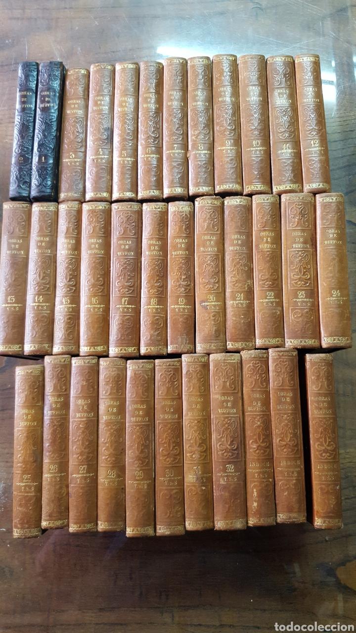 BUFFON: OBRAS COMPLETAS, 35 TOMOS MELLADO 1847-1850 SIN LÁMINAS, 2 MAPAS EN T1. (Libros Antiguos, Raros y Curiosos - Ciencias, Manuales y Oficios - Otros)