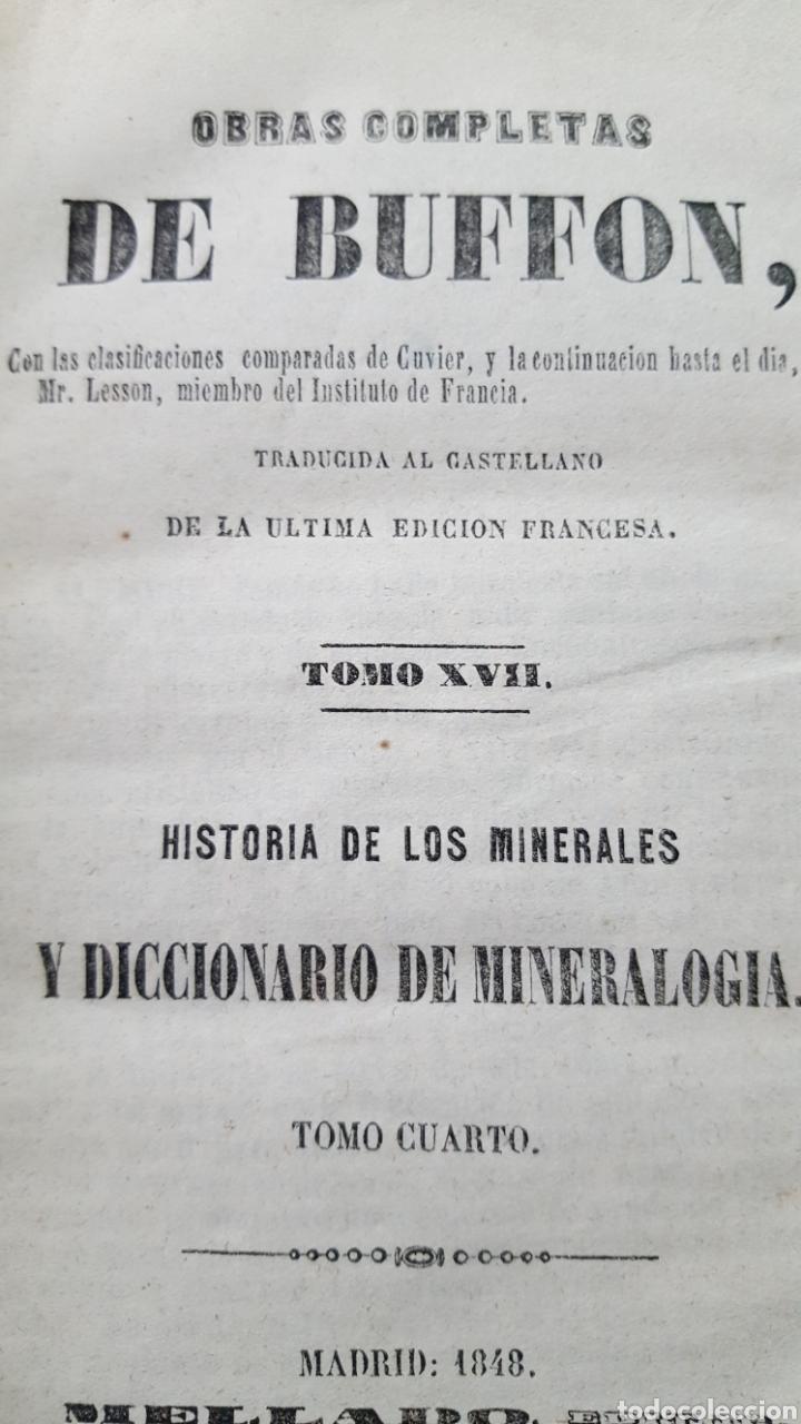 Libros antiguos: BUFFON: OBRAS COMPLETAS, 35 TOMOS MELLADO 1847-1850 SIN LÁMINAS, 2 MAPAS EN T1. - Foto 6 - 87562260