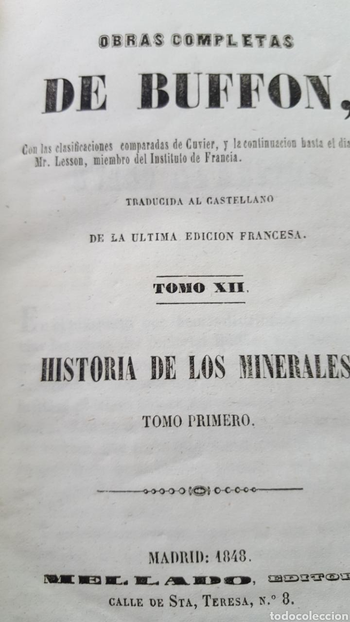 Libros antiguos: BUFFON: OBRAS COMPLETAS, 35 TOMOS MELLADO 1847-1850 SIN LÁMINAS, 2 MAPAS EN T1. - Foto 7 - 87562260