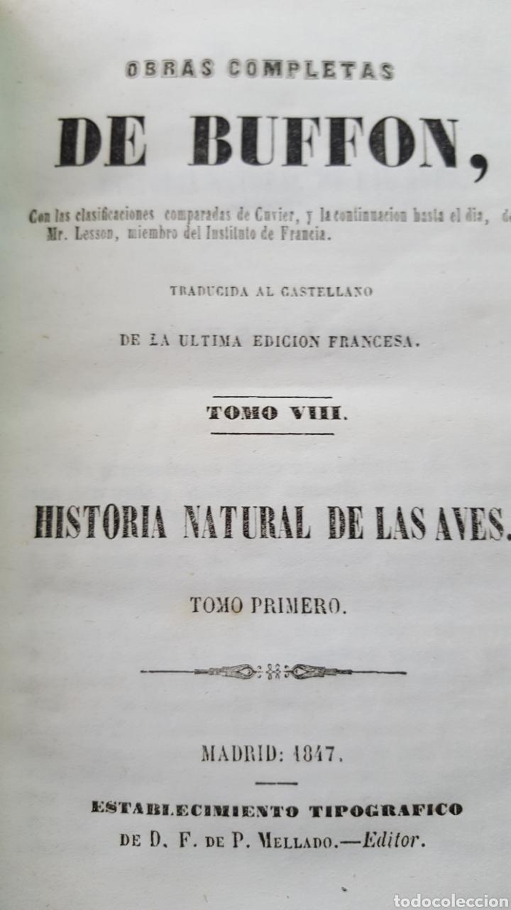 Libros antiguos: BUFFON: OBRAS COMPLETAS, 35 TOMOS MELLADO 1847-1850 SIN LÁMINAS, 2 MAPAS EN T1. - Foto 8 - 87562260