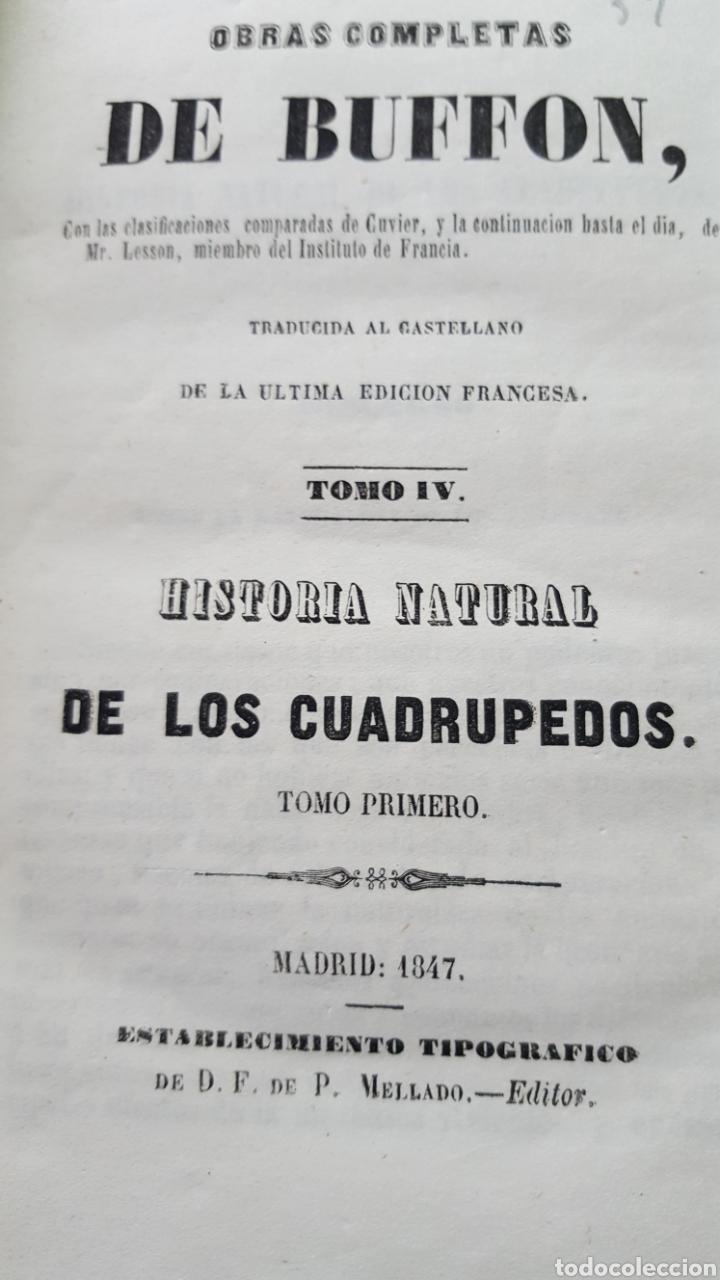 Libros antiguos: BUFFON: OBRAS COMPLETAS, 35 TOMOS MELLADO 1847-1850 SIN LÁMINAS, 2 MAPAS EN T1. - Foto 9 - 87562260