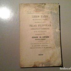 Libros antiguos: LIBROS RAROS DE HISTORIA, POESÍA...Nº 1. ENERO 1897. ISLAS FILIPINAS, GIBRALTAR...MUY RARO.. Lote 87649856