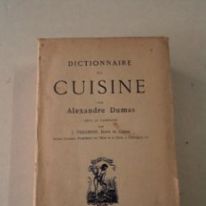 Libros antiguos: DICCIONNAIRE DE CUISINE - ALEXANDRE DUMAS - AÑO 1882. Lote 87789820