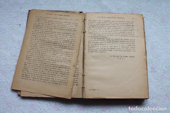 Libros antiguos: LA COCINA ESPAÑOLA ANTIGUA-CONDESA DE PARDO BAZÁN-1913-1920 - Foto 4 - 87792684