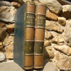Libros antiguos: ALVARO CARRILLO: CONSUELO Ó EL SACRIFICIO DE UNA MADRE, O.C. 2 TOMOS, EUSEBIO PLANAS GRABADOS 1878. Lote 87856720