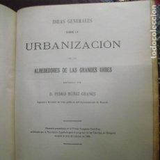 Libros antiguos: 1909 URBANIZACIÓN DE LOS ALREDEDORES DE LAS GRANDES URBES PEDRO NUÑEZ GRANÉS. Lote 93734040