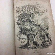 Libros antiguos: DIE GARTENLAUB, ILLUSTRIRTES FAMILENBLATT AÑO DE 1870, SEMAN. ILUST, POEMAS, BIOGRAFIAS, GRABADOS.. Lote 88094180
