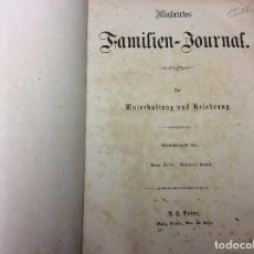 Libros antiguos: ILLUSTRIRTES FAMILIEN - JOURNAL, 1867, GRABADOS, CUENTOS, HISTORIA, LITERATURA, ETC. Lote 88097624