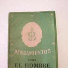 Libros antiguos: PENSAMIENTOS SOBRE EL HOMBRE. Lote 88196408