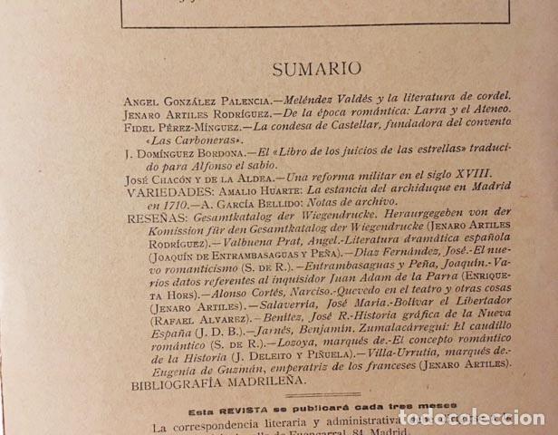 Libros antiguos: Revista de la Biblioteca, Archivo y Museo. 30 1931(González Palencia; F. Pérez Mínguez; Domínguez Bo - Foto 2 - 88247092