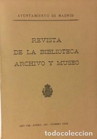 Libros antiguos: Revista de la Biblioteca, Archivo y Museo. 29. (C. Sánchez Albornoz; Valbuena Prat; F. Pérez Mínguez - Foto 2 - 88248236