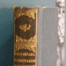 Libros antiguos: JUICIO IMPARCIAL Y COMENTARIOS AL CONCORDATO DE 1851. JOSE SÁNCHEZ RUBIO. Lote 88333296