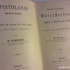 Libros antiguos: EPISTOLARIO ESPAÑOL ALEMAN RAMSHORN STUTTGART PAUL NEFR VERLAG EDITOR. Lote 88334567