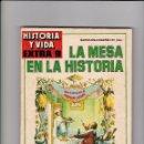 Libros antiguos: HISTORIA Y VIDA Nº 9. LA MESA EN LA HISTORIA. 100 PTAS. . Lote 88390020