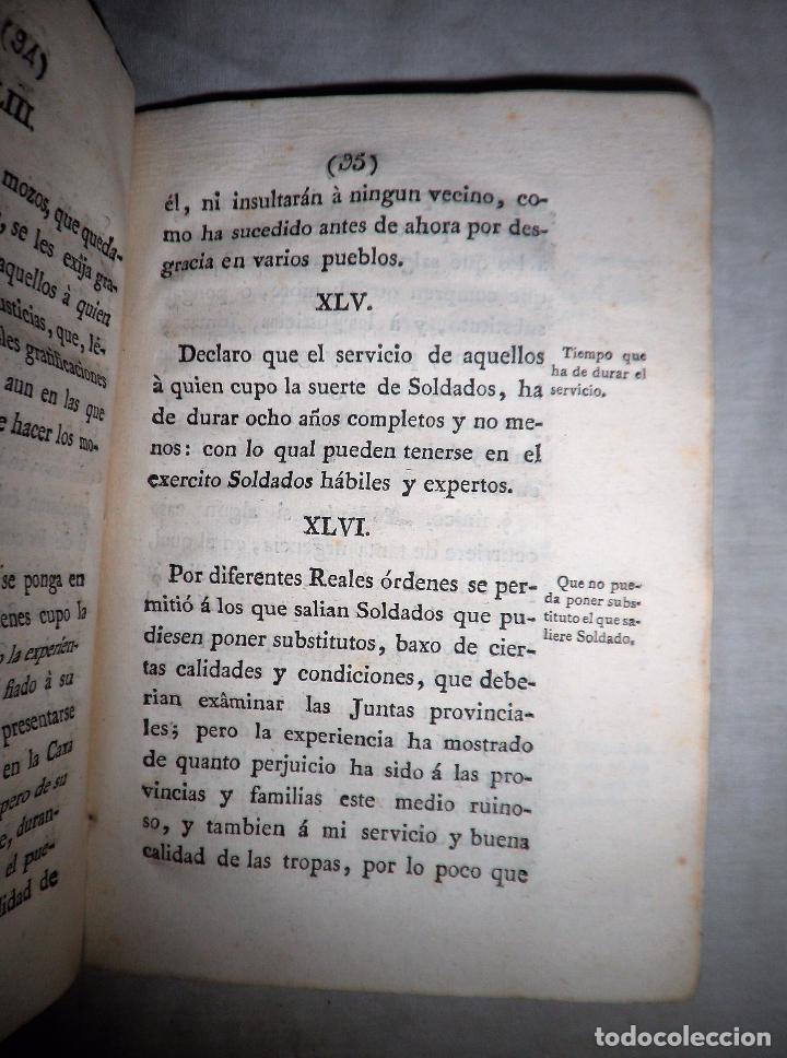 Libros antiguos: REAL ORDENANZA DE SU MAJESTAD·EXERCITO - GERONA AÑO 1800. - Foto 3 - 88878628