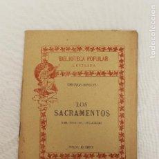 Libros antiguos: BIBLIOTECA POPULAR ILUSTRADA, LOS SACRAMENTOS, CHATEAUBRIAND, Nº 16, 1899 MADRID. Lote 88909664