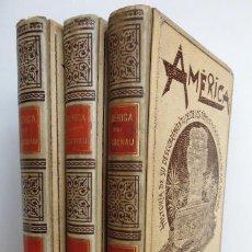 Libros antiguos: AMÉRICA (1892) - HISTORIA DE SU DESCUBRIMIENTO... OBRA COMPLETA EN 3 TOMOS - POR RODOLFO CRONAU. Lote 89208496