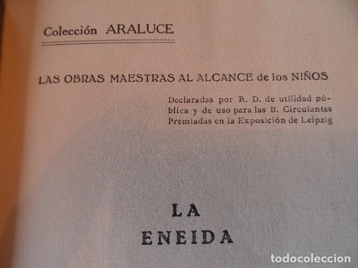 Libros antiguos: LA ENEIDA, RELATADA A LOS NIÑOS, COLECCIÓN ARALUCE, AÑO 1914 - Foto 7 - 89261204