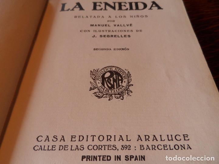 Libros antiguos: LA ENEIDA, RELATADA A LOS NIÑOS, COLECCIÓN ARALUCE, AÑO 1914 - Foto 8 - 89261204